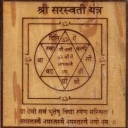 Sri Saraswati Yantra on Bhojpatra