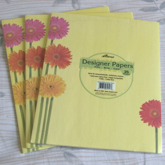 Designer Papers - Gerber Daisies - For Scrapbooks, Invitations, Announcements, Cards
