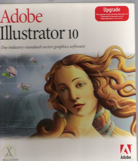 Adobe Illustrator 10 Upgrade Version for Macintosh.!!!