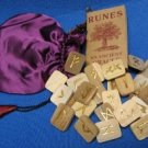Runes the ancient Nordic,Wooden Runes in Pouch!!!!