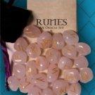 Runes the ancient Nordic,Rose Quartz Gemstone Runes!!!!!!!!!