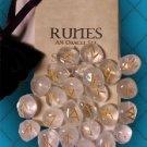 Runes the ancient Nordic,Crystal Quartz Gemstone Runes!!!!!
