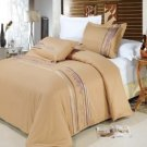 R-T™ #1710 Egyptian Cotton Embroidered Duvet Cover Set
