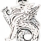 Legends of Rhiannon,Celtic Dragon Charm for Leadership & Purity!!!!!!