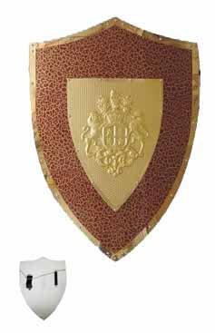 Burgundy Lion & Horse Shield