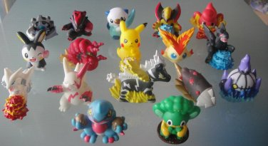 100pcs/lot finger puppet pvc hollow pokemon 4-5.5cm about 50styles mixed (some repeat)