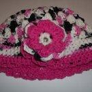 Verigated Pink Toddler cotton crochet hat