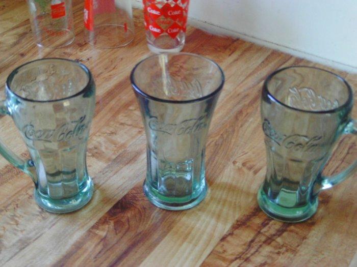 Coca Cola Clear Glasses