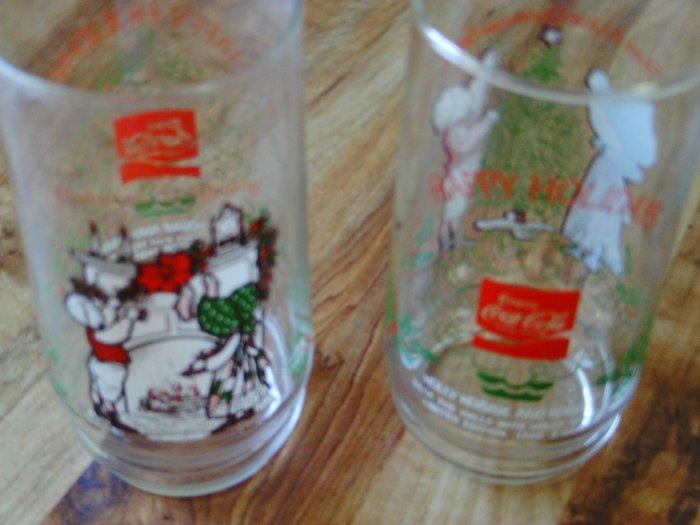 Holiday Coca Cola Glasses