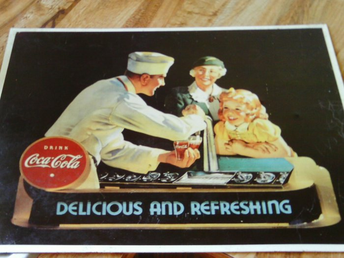 Coca Cola Tin Sign #1