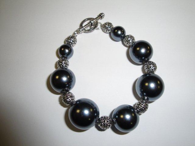 Large Onyx Bead Bracelet