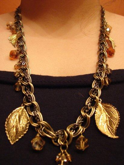 Harvest Gold Leaves Necklace