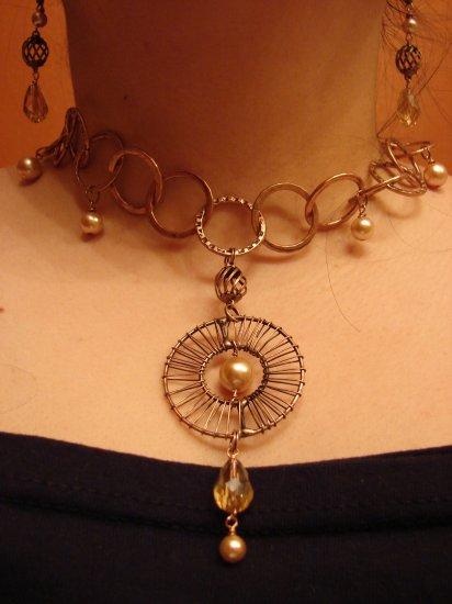 Exclusive Elegant Copper chain necklace & earring set