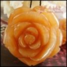 yellow aventurine---natural carved rose pendant