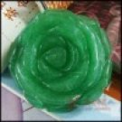 natural green agate--carved rose pendant