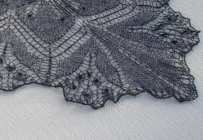 Dark blue Aeolian mohair shawl scarf