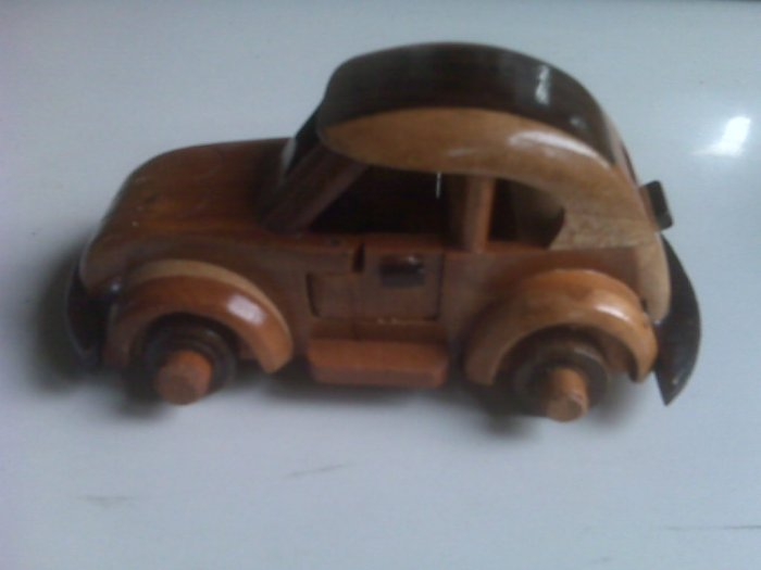 Handcrafted wooden VW Classic Car
