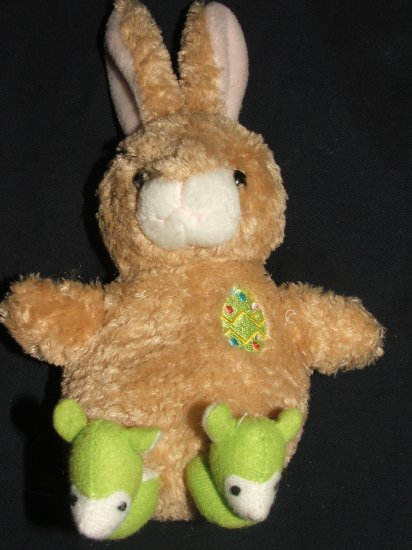 PLUSHLAND BUNNY WITH SLIPPERS APPROX 6""