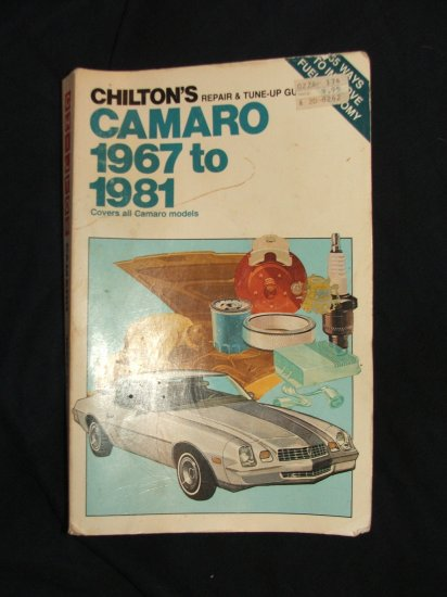 Chilton's CAMARO 1967-1981 Repair Book