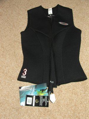 HENDERSON  3mm Thermoprene Zippered Vest Womens Small or Size 6