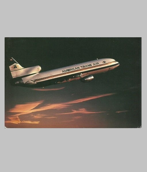 AMERICAN TRANS AIR LOCKHEED 1011 POSTCARD