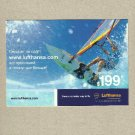 LUFTHANSA AIRLINE WINDSURFING ADVERTISING POSTCARD FROM UKRAINE