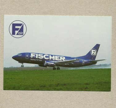 FISCHER AIR CZECH REPUBLIC BOEING 737 300 PROMOTIONAL POSTCARD