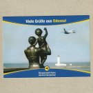 UKRAINE INTERNATIONAL AIRLINES ODESSA AUSTRIAN ADVERTISING POSTCARD