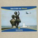 UKRAINE INTERNATIONAL AIRLINES ODESSA AUSTRIAN ADVERTISING POSTCARD
