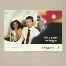 CZA CZECH AIRLINES WIN A TICKET TO PRAGUE ADVERTISING POSTCARD