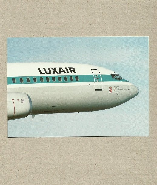 LUXAIR AIRLINES LUXEMBOURG BOEING 737-400 POSTCARD