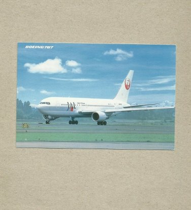 JAPAN AIRLINES JAL BOEING 767 POSTCARD