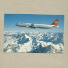 SWISS AIR AIRBUS A321 111 AIRCRAFT AIRLINE ISSUED PROMOTIONAL POSTCARD