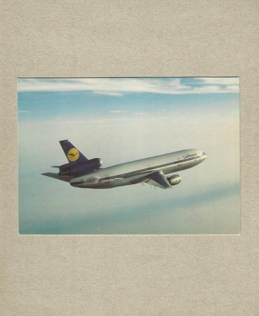 LUFTHANSA AIRLINE DC10 POSTCARD FEDERAL REPUBLIC OF GERMANY