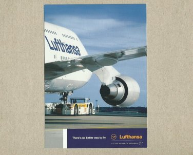 LUFTHANSA AIRLINE THERES NO BETTER WAY TO FLY ADVERTISING POSTCARD