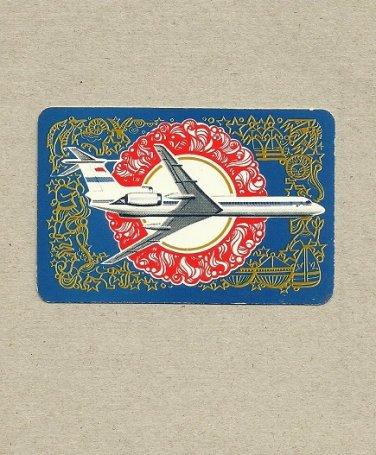 AEROFLOT SOVIET AIRLINES 1975 CREDIT CARD SIZE POCKET CALENDAR