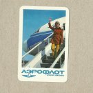 AEROFLOT SOVIET AIRLINES 1976 RUSSIAN AND ENGLISH LANGUAGE CREDIT CARD SIZE POCKET CALENDAR
