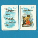 AEROFLOT 60th ANNIVERSARY 1983 RUSSIAN AND ENGLISH LANGUAGE CREDIT CARD SIZE POCKET CALENDARS