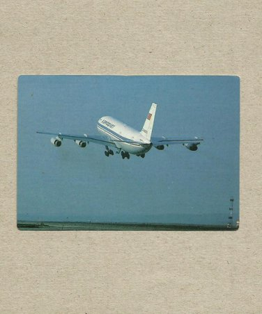 AEROFLOT AIRLINER TAKE OFF 1991 RUSSIAN LANGUAGE CREDIT CARD SIZE POCKET CALENDAR