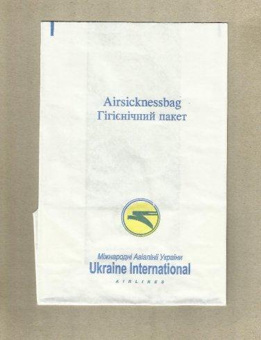 UKRAINE INTERNATIONAL AIRLINES AIR SICKNESS BAG BARF BAG