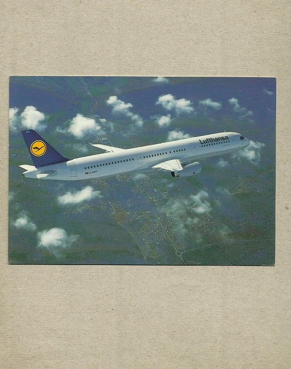 LUFTHANSA AIRLINE AIRBUS A321-100 POSTCARD FROM GERMANY