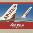 AIR BERLIN WE FLY EUROPE ADVERTISING POSTCARD FROM GERMANY