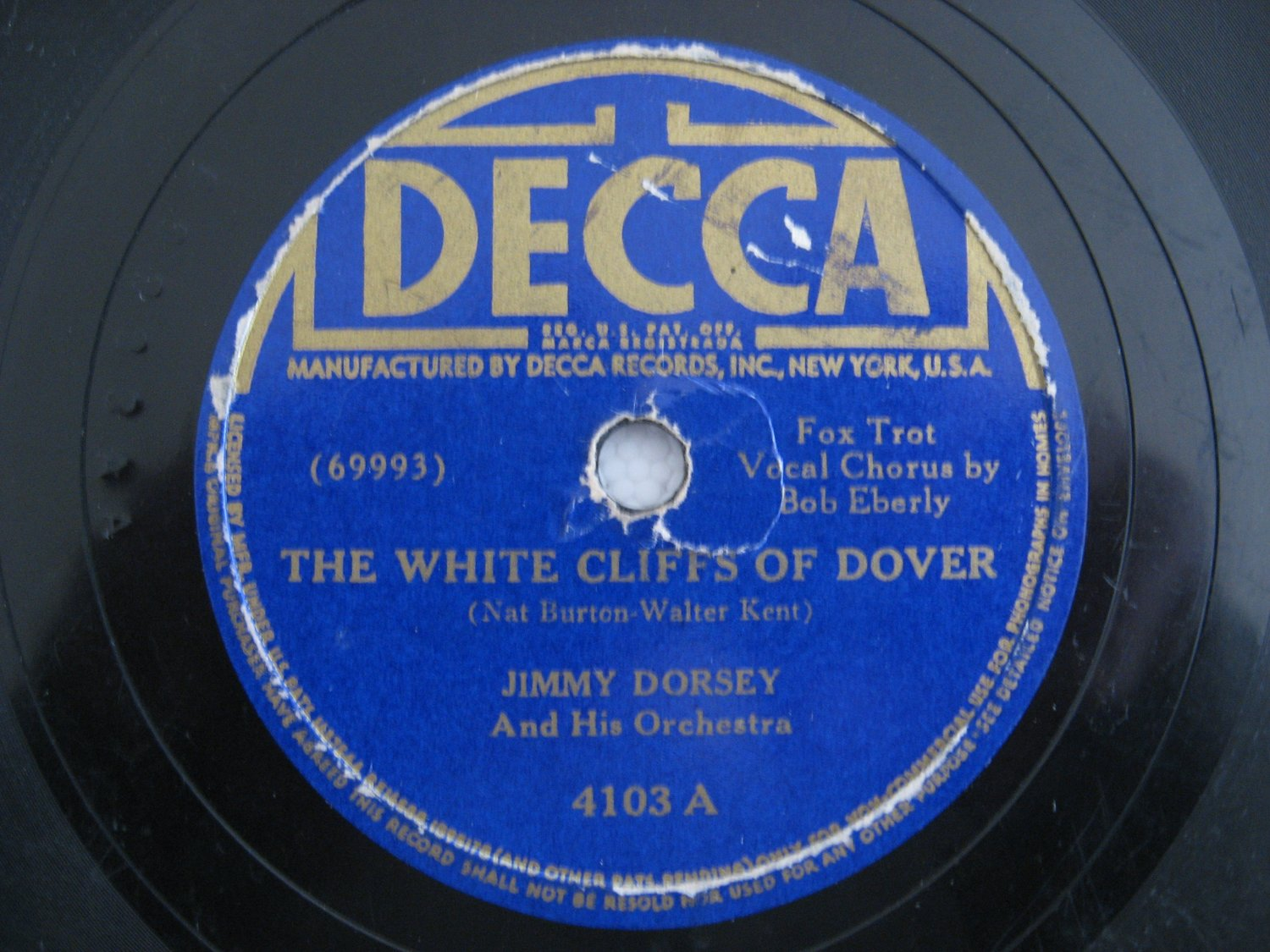 Jimmy Dorsey / O'Connell / Eberly - The White Cliffs Of Dover   (Vinyl Record)