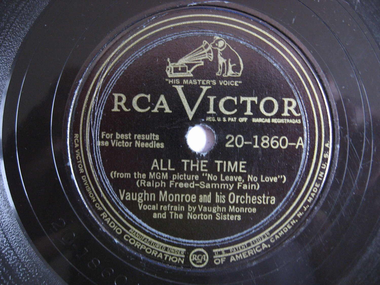 Vaughn Monroe  -  All The Time   (Vinyl Record)