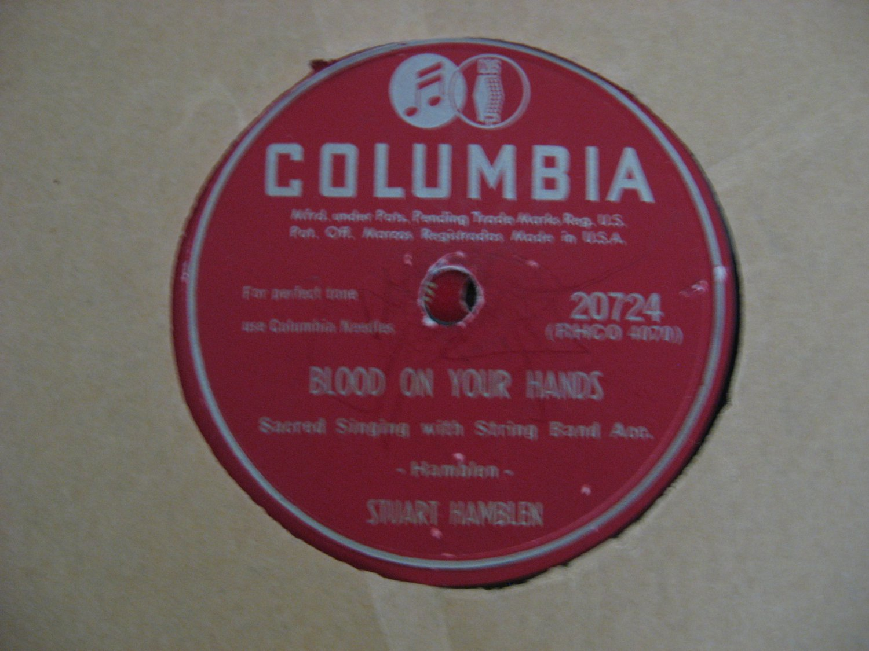 Stuart Hamblen - Blood On Your Hands/It's No Secret - 1950 (Vinyl Records)