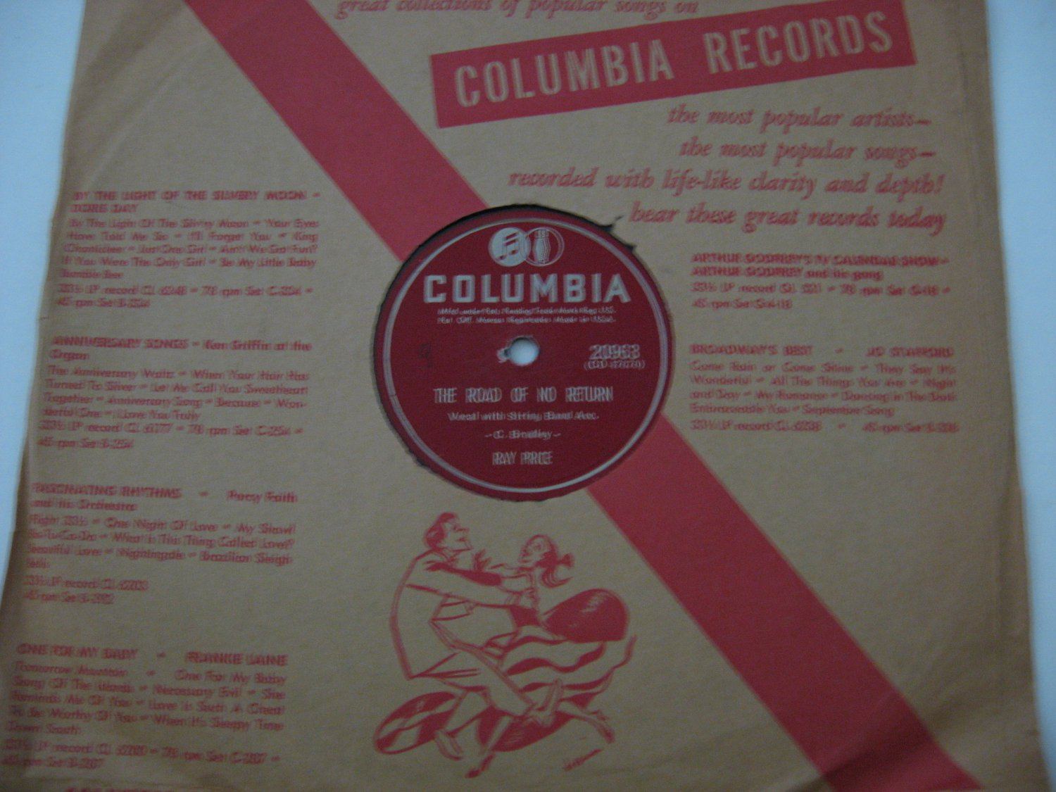 Ray Price - The Road OF No Return/I Know I'll Never Win Your Love Again - 1949 (Vinyl Records)