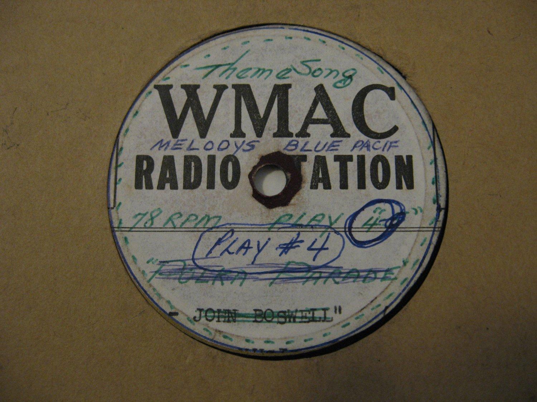 WMAC Radio Station - Theme Song - (Vinyl Record)