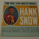Hank Snow - The Old And Great Songs - 1964  (Record)