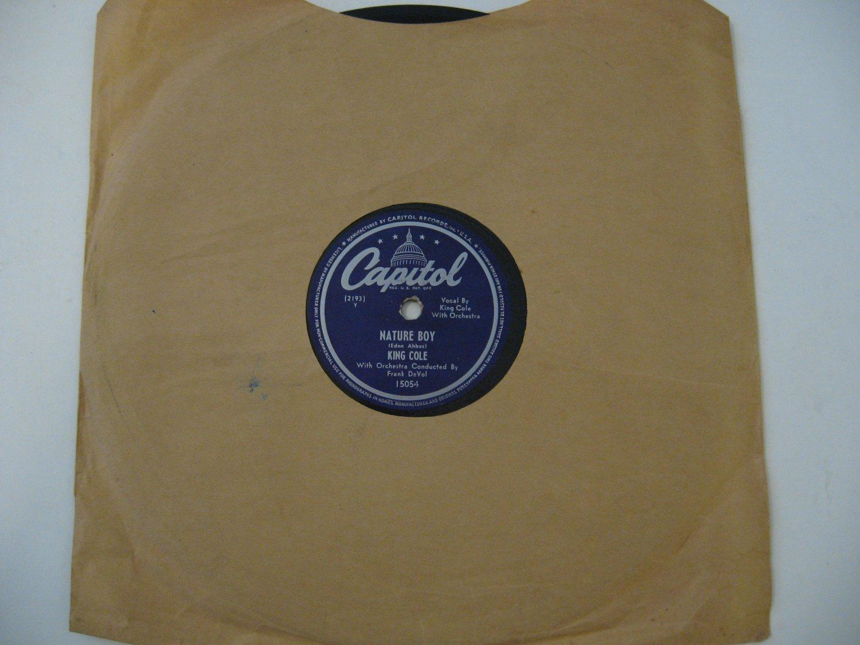 Nat King Cole - Nature Boy / Lost April - 1947  (78rpm)