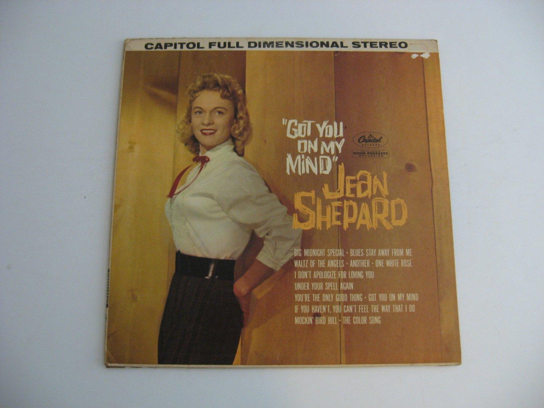 Rare Vinyl!  Jean Shepard  - Got You On My Mind - Circa 1961
